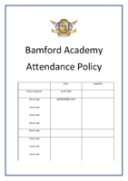 Attendance Policy sept 2017