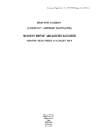 Report and Financial Statements 2013 – 2014