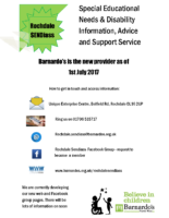 sendiass flyer – Barnardo's is the new provider as of 1st July 2017