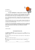 Basketball letter Summer term
